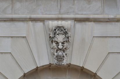 Detail of Fountain outside the Thomas Jefferson Building