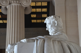 Detail of the Lincoln Memorial