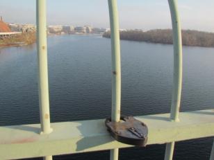 A view of the river from Key Bridge, Washington DC