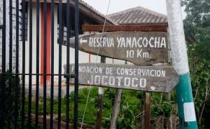 Sign as seen from the Camino a Nono.
