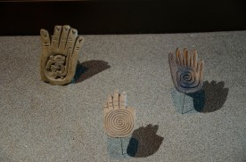 Ceramic Stamps shaped like hands.