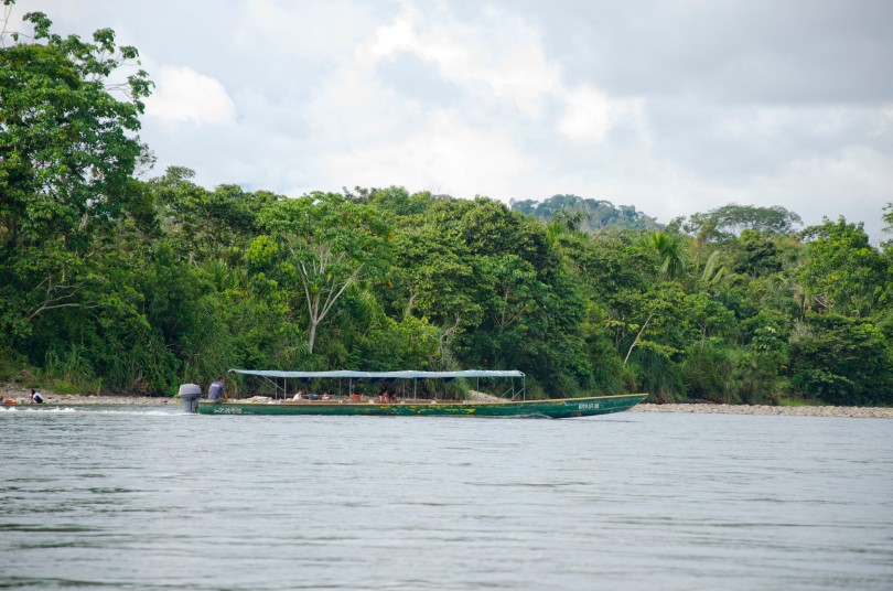 The main mode of transportation up and down the Napo River
