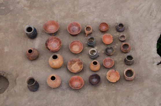 A sample of the pottery found at the Florida site.