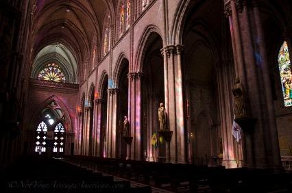 Morning light inside the Basilica.