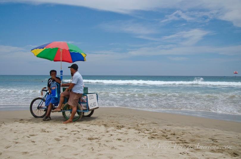 On the beach in Montañita.