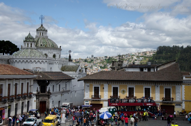 A view from the Plaza San Francisco, Downtown Quito