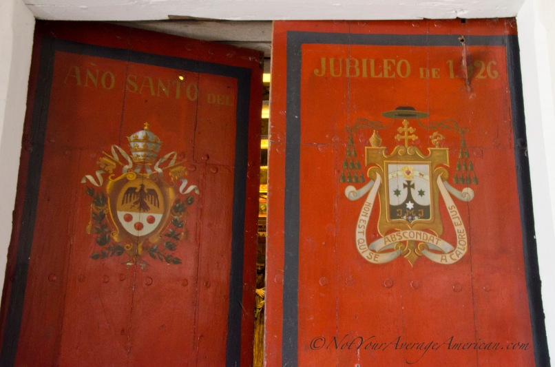 Entrance doors to the museum.