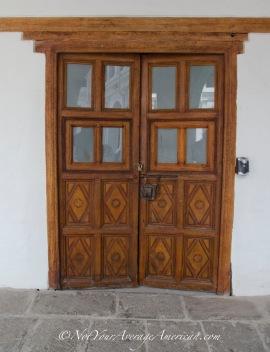 Original doors in the inner courtyard. The woodwork is spectacular.
