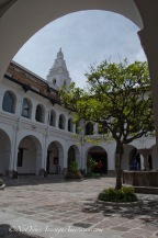 The inner courtyard of the Museo del Carmen Alto.