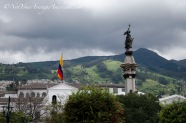 View of the Andes from the Plaza de la Independencia, Quito.