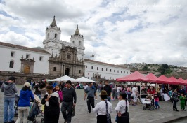 Plaza San Francisco with a Sunday market of handmade items and local foods.