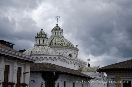 Even on a cloudy day, the tile roof of the Catedral Metropolitano is stunning.