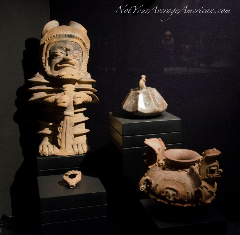 A small sample of the pottery collection at the Casa de la Cultura museum.