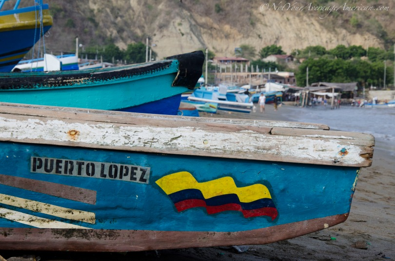 Fishing boats in Puerto Lopez.