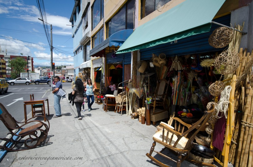 Looking for anything made from wood or natural fibers? Santa Clara probably has it! Avenida Cristobal Colon between America and 10 de Agosto.