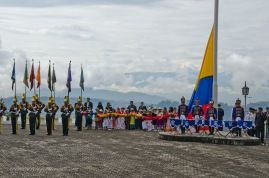 Before the raising of the Ecuadorian flag.