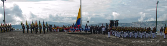 A picture to show the size of the event and the glorious back drop of the Andes.