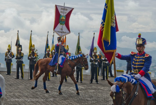 Each army that fought at Pichincha was recognized by a banner carried in on a cantering horse.