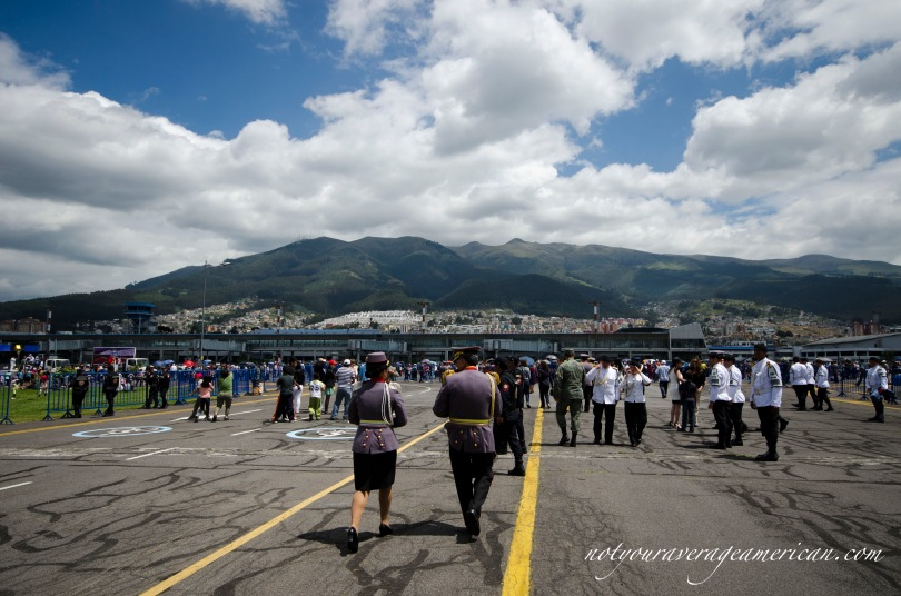 A beautiful day in Quito - the mountains as seen from Parque Bicentenario (the old airport).