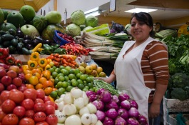 This is Wilma. She has run her stand at Iñaquitos for 20 years!
