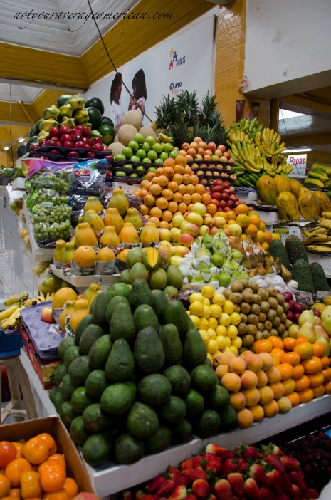 Avocados are sold mainly by fruit vendors, but not always.