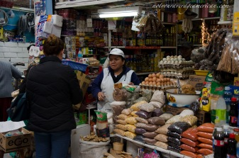Many stores sell items other than fruit and veg. This one specializes in dried goods, including beans and spices but she has other stuff tucked away in the back. If in doubt, ask.