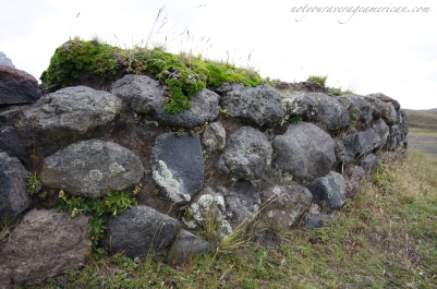 Detail of the stone wall on the north side of the ruins.
