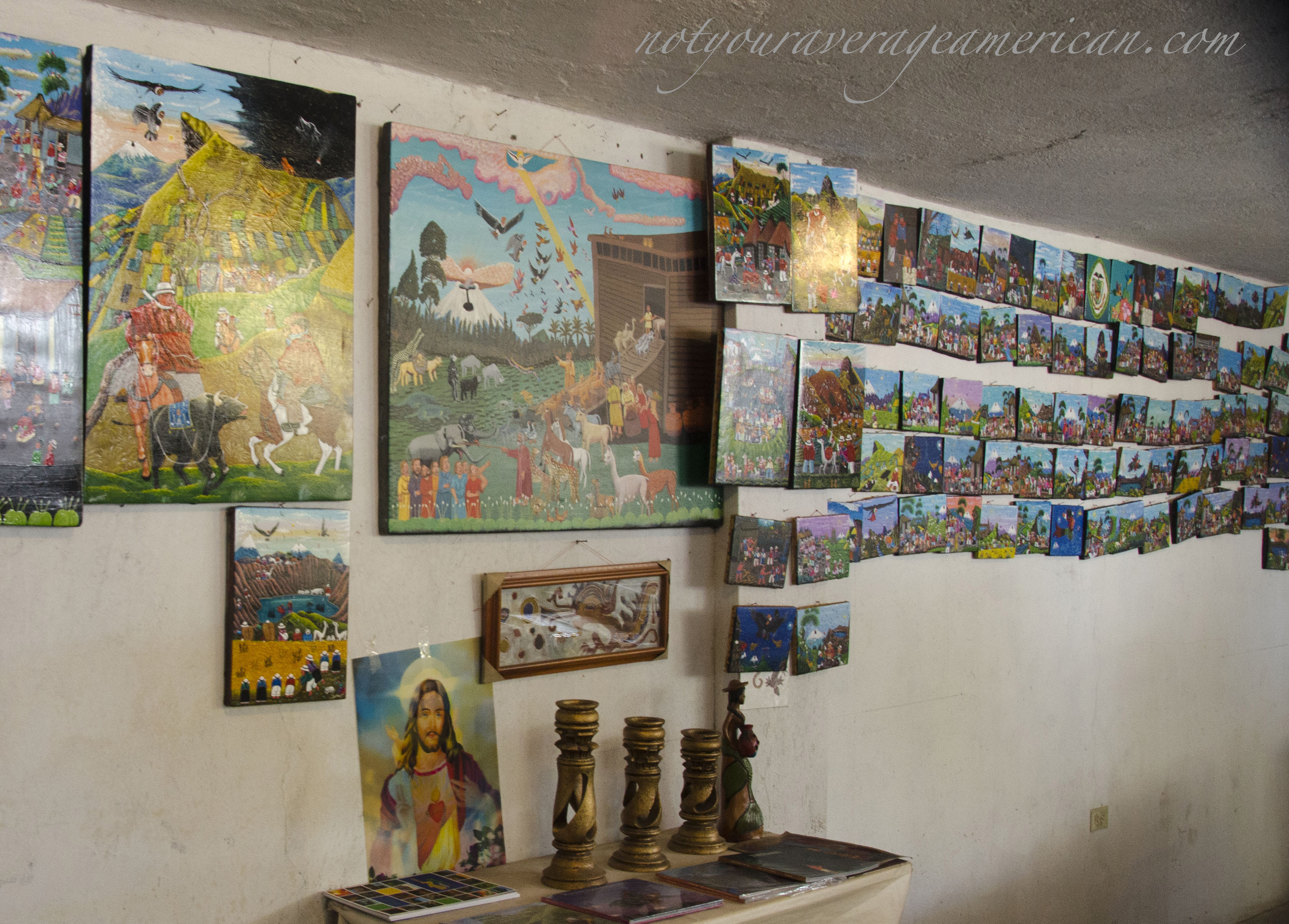 The gallery space of Julio Toaquiza and sons.